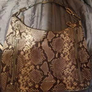 Authentic Michael Kors snakeskin handbag